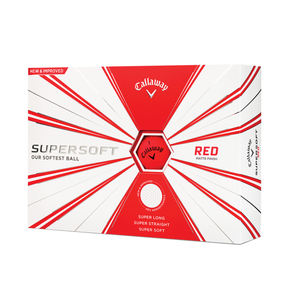 balles callaway supersoft rouge